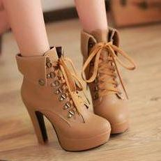 Hot Tan 4.7in Platform High Heel An..