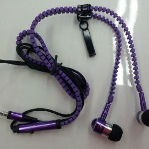 No Tangle Purple Metal Zipper Ear B..