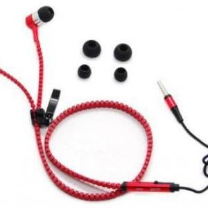 No Tangle Red Metal Zipper Ear Bud ..