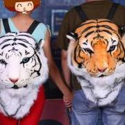 Large Tiger (White & Orange), Lion Head & Black Panther Backpack Unisex