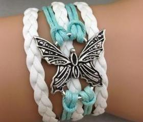 Mint & White Butterf..