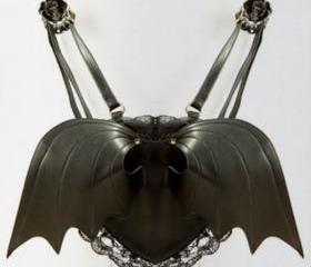 Black Bat Wing Heart..