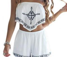 Two Piece Embroidere..