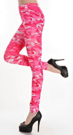Pink Camouflage Leggings