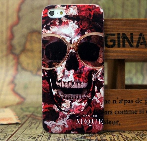 Cool Sunglasses on Skull Case For iPhone 5 5S 5G