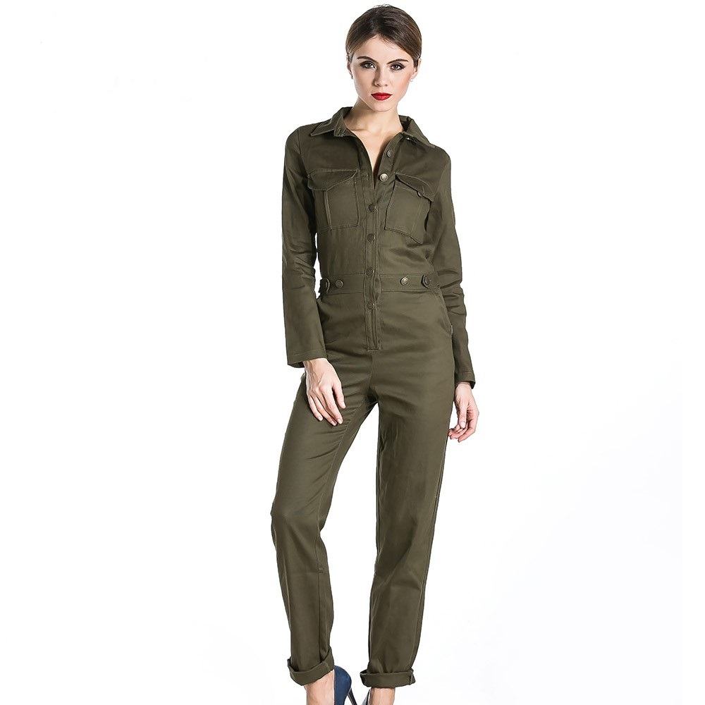 High Fashion Army Green Utility Jumpsuit