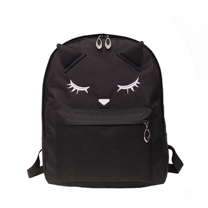Embroidery Cat Ear Backpack (3 Colors)