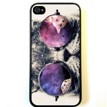 Galaxy Hipster Cat Case For iPhone 5 5S 5C